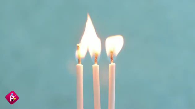 کارت پستال تولد طرح شمع
