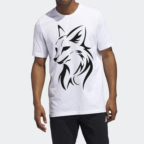 تیشرت پنبه ای با طرح روباه