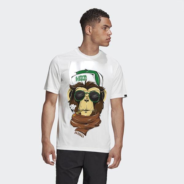 تیشرت با طرح میمون