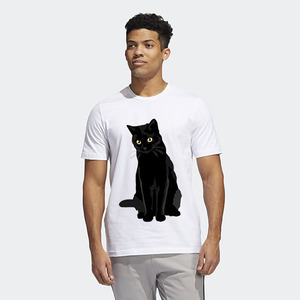 تیشرت طرح گربه مشکی