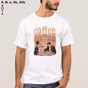 تیشرت طرح قهوه