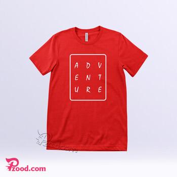 چاپ تیشرت پنبه ای قرمز