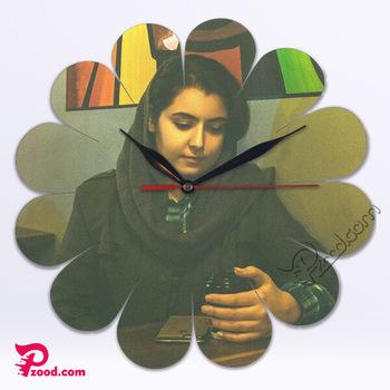 چاپ اختصاصی ساعت دیواری گلبرگ