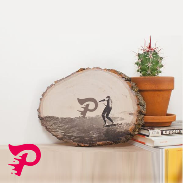 چاپ عکس دلخواه روی چوب