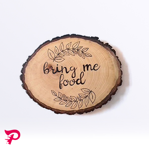چاپ روی برش چوب