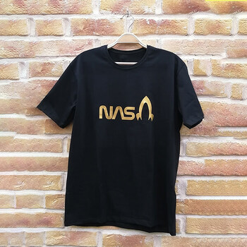 نمونه چاپ شده تیشرت طرح ناسا